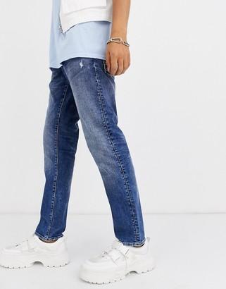 G Star G-Star Radar straight tapered fit zip jeans in light wash