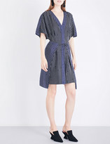 Diane von Furstenberg V-neck tie-front silk-twill dress