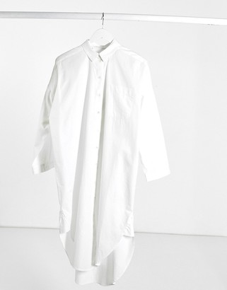 Selected oversized shirt in white