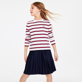 Lacoste Girls' Print Thick Cotton Nautical Top