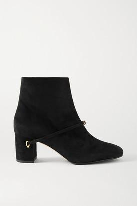 Jennifer Chamandi Danilo 65 Suede Ankle Boots - Black