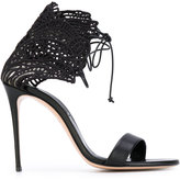 Casadei Teatro evening sandals - women - Cotton/Leather - 36