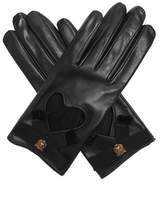 Gucci Grosgrain-bow leather gloves