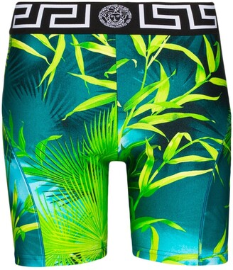 Versace Jungle print cycling shorts