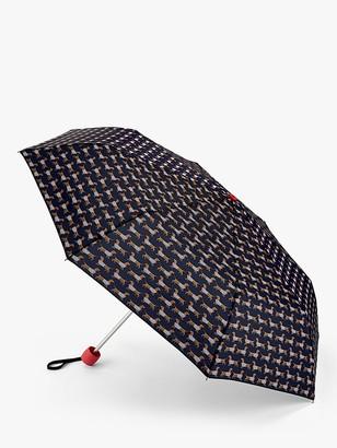 Joules Sausage Dog Print Telescope Umbrella, Multi