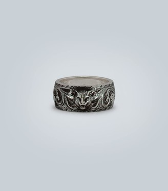 Gucci Sterling silver ring with feline head