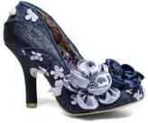 Irregular Choice Women's Peach Melba Rounded Toe High Heels In Blue - Size Uk 4