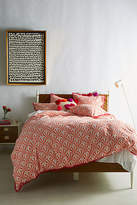 Anthropologie Tasseled Deco Fan Duvet