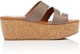 See by Chloe WOMEN'S LEATHER PLATFORM-WEDGE SLIDE SANDALS