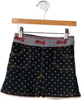 Dolce & Gabbana Girls' Patterned Denim Skirt