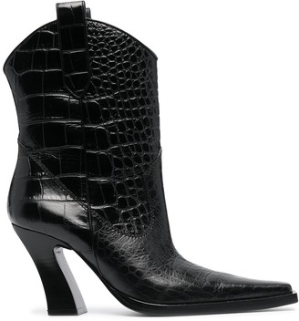 Tom Ford croc-effect Western-style ankle boots