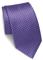 Brioni Bubble Printed Silk Tie