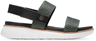Cole Haan ZeroGrand Global Perforated Leather Sport Slingback Sandals