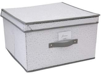 Simplify White Embossed Nest Jumbo Storage Box