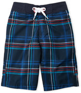 Speedo Boys 8-20) Plaid Board Shorts