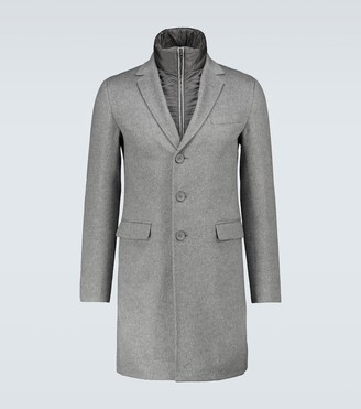 Herno Layered cashmere overcoat