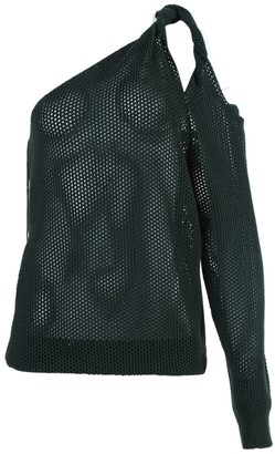 Givenchy Perforated One-shoulder Top