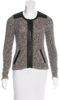 Rag & Bone Bouclé Leather-Trimmed Jacket