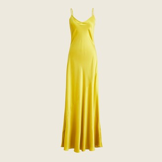 J.Crew Limited-edition tie-back silk charmeuse slip dress