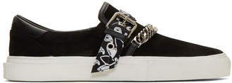 Amiri Black Suede Bandana Buckle Sneakers