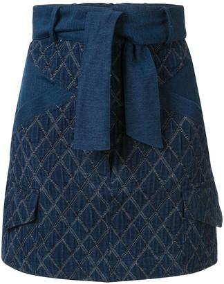 Manning Cartell Australia Geometric-Pattern Denim Skirt