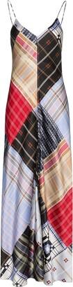 Ganni Check Patchwork Maxi Slip Dress
