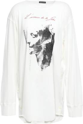 Ann Demeulemeester Printed Cotton-jersey Top