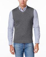 Tommy Hilfiger Men's Signature Solid V-Neck Sweater Vest