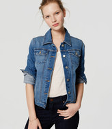 LOFT Denim Jacket in Vivid Mid Indigo Wash