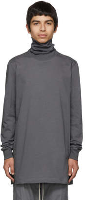 Rick Owens Grey Surf Tee Turtleneck