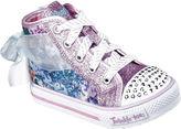 Skechers Twinkle Toes Shuffles Girls High Top Sneakers - Toddler