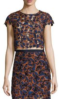 Saloni Eva Top Navy/orange