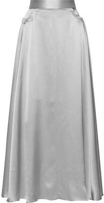 Michael Lo Sordo Full Circle Silk-satin Maxi Skirt