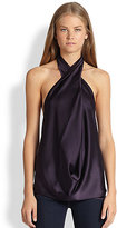 Ramy Brook 6-Way Convertible Stretch Silk Satin Top