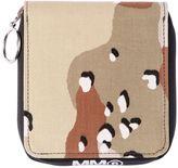MM6 MAISON MARGIELA Camouflage Canvas Zip Around Wallet