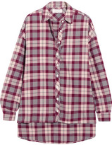 The Great The Big Checked Cotton Shirt - Claret