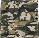 Furla geometric camouflage pattern scarf