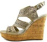 GUESS Womens Vannora Open Toe Casual Platform Sandals.