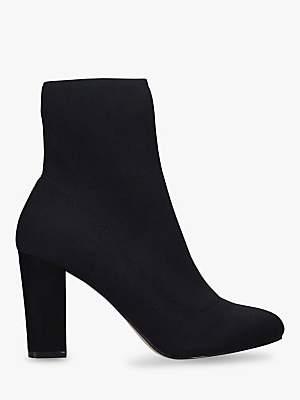 Carvela Travel Block Heel Sock Ankle Boots, Black