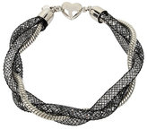 Betsey Johnson Confetti Silver Twisted Tube Bracelet
