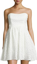 Plenty by Tracy Reese Strapless Flower Embroidered Dress, White