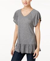 Style&Co. Style & Co Ruffled Peplum Top, Only at Macy's