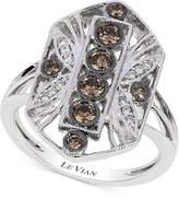 LeVian Le Vian Chocolatier Chocolate Deco Estate Diamond (1/2 ct. t.w.) Ring in 14k White Gold