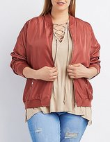 Charlotte Russe Plus Size Zip-Up Bomber Jacket