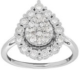 Lord & Taylor Andin 14K White Gold Pear Diamond Pave Ring, 0.50 TCW