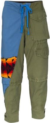 Greg Lauren 50/50 cargo trousers