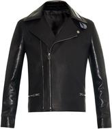 Balenciaga Combination leather biker jacket