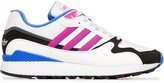 adidas white, pink and blue ultra tech sneakers