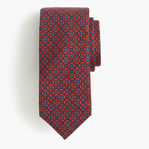 Drakes Drake's® silk tie in red geometric print