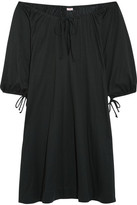 Eres Zephyr Mimsy Off-the-shoulder Cotton-jersey Dress - Black
